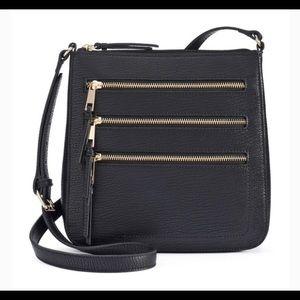 Apt. 9 black zipper crossbody NEW w/o tags
